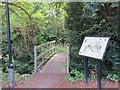 NZ2557 : The bridged entrance to Lamesley Pastures Nature Reserve by Peter Wood