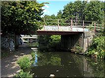 TQ2182 : Railway bridge over the Grand Union Canal near Old Oak Common by Gareth James