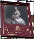 SU1585 : Queens Tap name sign, Swindon by Jaggery