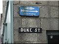 NJ5239 : Old British Railways Station sign by John M