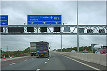TQ5692 : M25 crosses A12 by Robin Webster