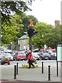 N7212 : Flame sculpture in Kildare Square by Oliver Dixon