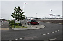 SU5290 : Entrance to Didcot Parkway East Car Park by Jaggery