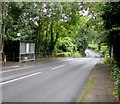 ST0780 : A4119 bus stop and shelter east of Groesfaen by Jaggery