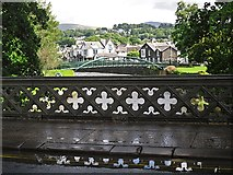 NY2623 : Iron parapet, Station Road Bridge by Rose and Trev Clough