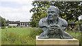 SO7204 : Sir Peter Scott bust, Slimbridge by Rossographer