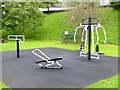 R7072 : Exercise equipment in the Ballina Riverside Park by Oliver Dixon
