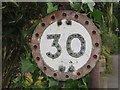NU1800 : Speed limit sign, West Thirston by Graham Robson