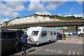 TR3341 : Caravan awaiting embarkation, Eastern Docks, Dover by M J Roscoe