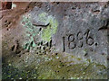 NY5841 : Graffiti in disused quarry by Raven Beck by Karl and Ali