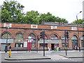 TQ2983 : Pancras Road Arches - detail by Stephen Craven