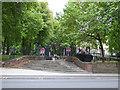 TQ2983 : Steps to Old St Pancras churchyard by Stephen Craven