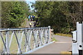 SO1803 : Cycle route bridge over River Ebbw, near Cwm by M J Roscoe