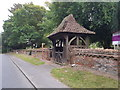 TM4489 : WW1 Memorial Lych Gate outside Worlingham Parish Church by Helen Steed