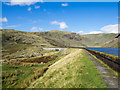 SD2498 : Dam of Seathwaite Reservoir by Trevor Littlewood