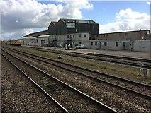 SU1585 : View from a Reading-Swindon train - Railway sidings, Swindon by Nigel Thompson