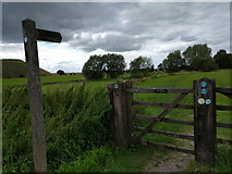SU1068 : Footpath to Avebury, past Waden Hill and Silbury Hill by Rob Purvis