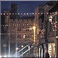 TQ7415 : Christmas lights in Battle High Street by Patrick Roper