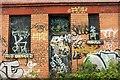 ST5772 : Graffiti by the Avon Valley Path by Derek Harper