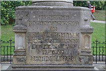 TM1645 : Ipswich Martyr's Memorial- Inscription 1 by Steven Fosdick