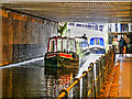 SJ8397 : Narrowboats below Deansgate by David Dixon