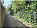 TV6099 : Alleyway from Gildredge Park to Compton Place Road by PAUL FARMER