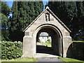 SE9755 : St Mary, Kirkburn - lych gate by Stephen Craven