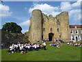 TQ5846 : Summer Sunday afternoon concert at Tonbridge Castle by Marathon