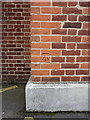 SP2377 : OS benchmark - Balsall Common, 299 Kenilworth Road by Richard Law