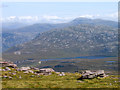 NC2028 : Blocks of rock at Bealach a' Chornaidh by Trevor Littlewood