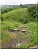 SP1566 : Steps and path, Beaudesert Castle by Derek Harper