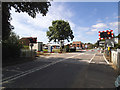 TA0252 : Hutton Cranswick level crossing by Stephen Craven