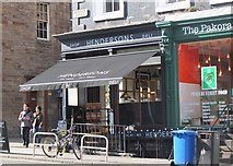 NT2574 : Hendersons shop and salad bar, Edinburgh by Jim Barton
