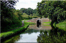 SO8690 : Hinksford Lock Bridge south-east of Swindon, Staffordshire by Roger  Kidd