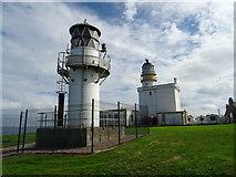 NJ9967 : Kinnaird Head lighthouses by John M