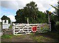 TG1302 : Crossing gates on Lower Spinks Lane by Evelyn Simak