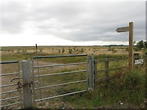 NZ2294 : New restricted byway across farmland by Graham Robson