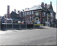 ST1775 : East side of Ninian Park Primary School, Cardiff by Jaggery
