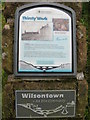 NS9555 : Information board about the Wilsontown Inn by M J Richardson