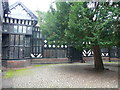 SJ4182 : The courtyard, Speke Hall, Liverpool by Humphrey Bolton