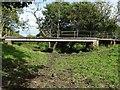 SK1034 : Footbridge over an old loop of the River Dove by Ian Calderwood