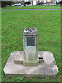 TQ1671 : Water fountain in Manor Road Recreation Ground by John S Turner