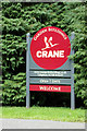 TF7513 : Crane Garden Buildings sign by Adrian Cable