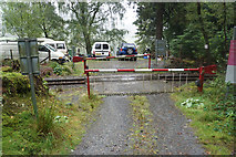 SH5748 : Level crossing near Meillionen by Bill Boaden