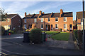 SP2865 : Terrace of five houses, Vine Lane, Packmores, Warwick by Robin Stott