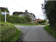 SX5599 : Inwardleigh Cross on the edge of the village by David Smith
