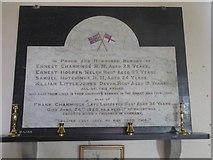 SX5699 : WW1 memorial in Inwardleigh church by David Smith