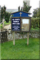 TF7815 : All Saints Church Notice Board by Adrian Cable