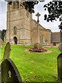 SP8983 : Geddington War Memorial, St Mary Magdalene's Church by David Dixon