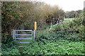 SP9355 : Gate on the Milton Keynes Boundary Walk by Philip Jeffrey